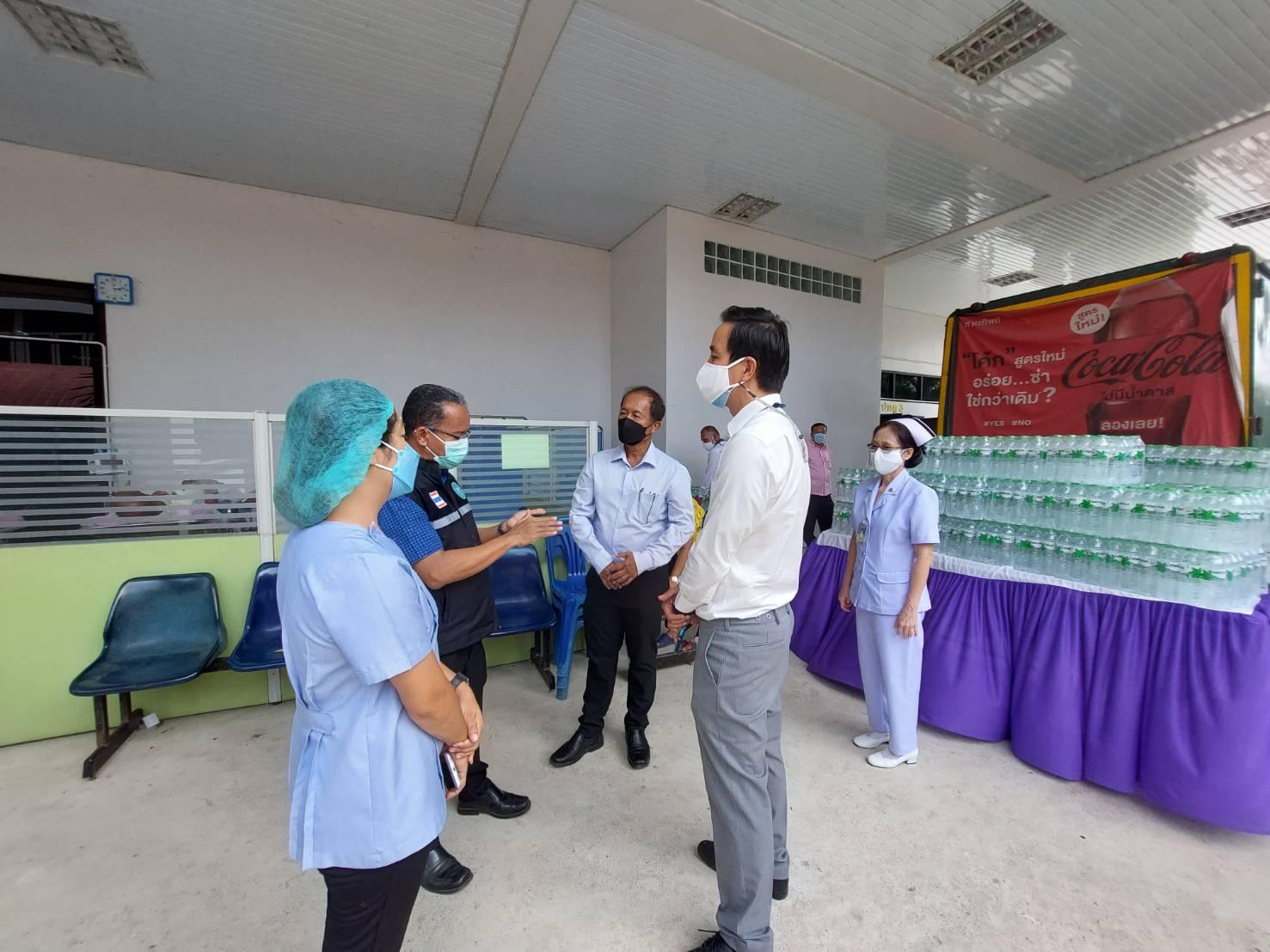 หอการค้าจังหวัดสงขลา ร่วมมอบน้ำดื่มน้ำทิพย์ จำนวน 360 แพ็ค ให้กับโรงพยาบาลบางกล่ำ โรงพยาบาลควนเนียง และโรงพยาบาลรัตภูมิ